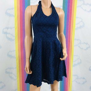 NWT lilly pulitzer navy blue eyelet sun dress